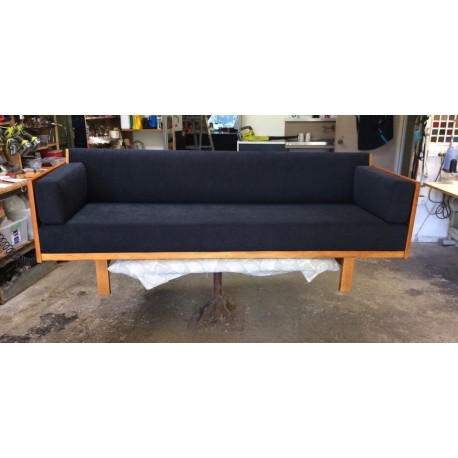 Danish Oak Daybed in Jim Thompson Fabric