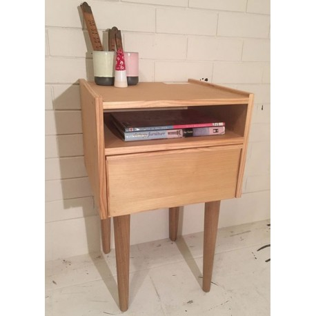 founds custom made Mid Century inspired Bedside tables.