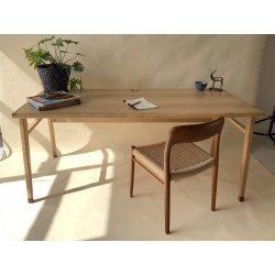 Founds Custom Scandinavian Style Desks - available in Oak or Teak.
