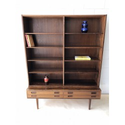 Danish Rosewood Bookcase by Carlo Jensen for Hundevad & Co., 1960s