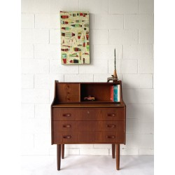 Danish Desk with pull out extensions