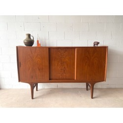 High Danish Teak Sideboard with centre drawers.