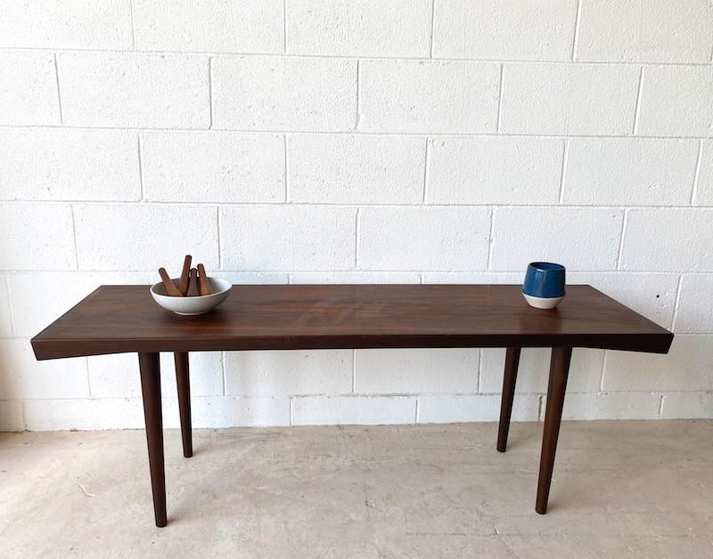 Slim Line Danish Rosewood Coffee Table Found