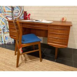 Vintage free-standing Danish executive desk in teak.