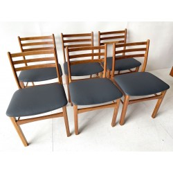Poul Volther set of 6 Dining Chairs in Oak.