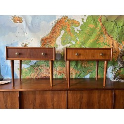 Pair of Danish Bedsides.