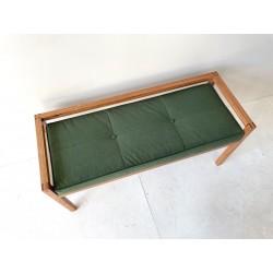 Founds' custom made Oak Bench,
