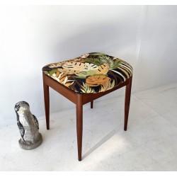 Teak Foot stool with cigar shaped legs